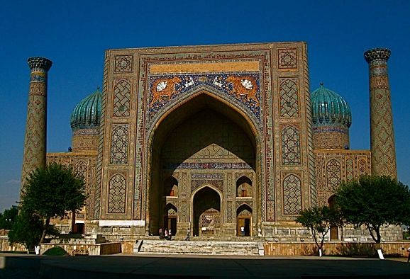 GOLDEN ROAD TO SAMARKAND!                      Sherdor Medreseh, Registan Square, Samarkand, Uzbekistan