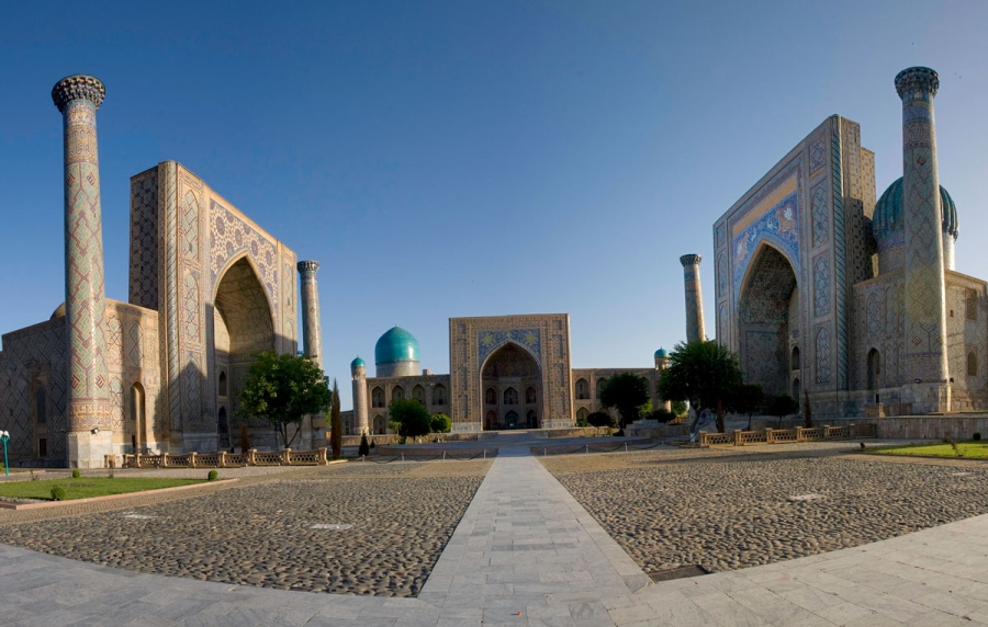 Magnificent Registan Square in Legendary Samarkand, Uzbekistan  by Dr. Steve Emmet